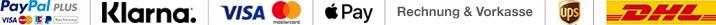 Zahlungs- und Versandmöglichkeiten
