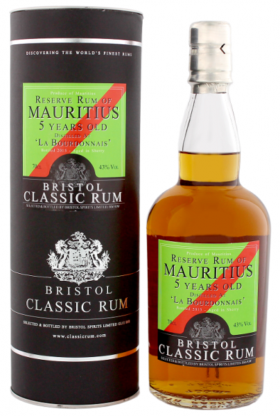 Bristol Reserve Rum of Mauritius 5YO Sherry Finish 0,7 Liter 43%