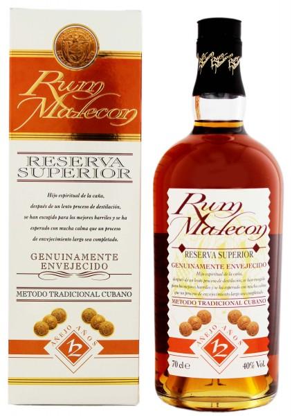 Malecon 12YO Reserva Superior Rum 0,7 Liter 40%