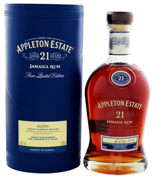 Appleton Estate Rum 21 Jahre 0,7 Liter 43%