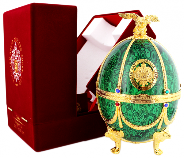 Imperial Collection Faberge Ei grün 0,7 Liter 40%