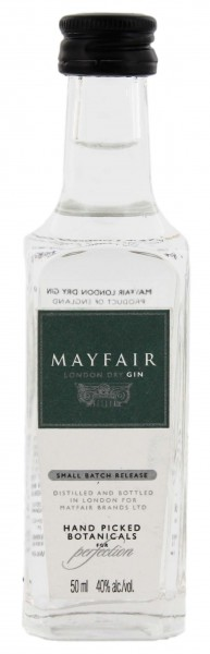 Mayfair London Dry Gin - Miniatur - England 0,05L