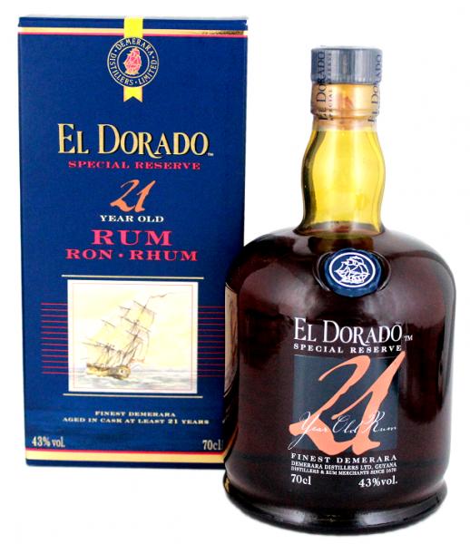 El Dorado 21YO Rum 0,7 Liter 43%