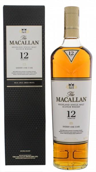 Macallan 12YO Sherrywood Single Malt Scotch Whisky 0,7 Liter 40%