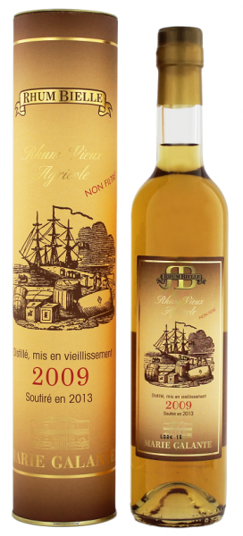 Bielle Vieux Vintage 2009/2013 Agricole Rhum 0,5 Liter 42%