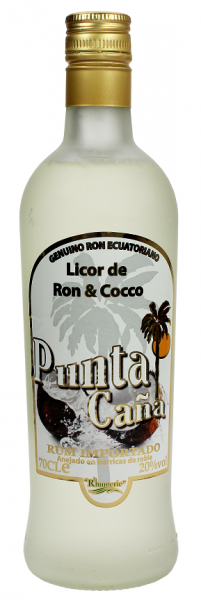 Punta Cana de Ron y Cocco Licor 0,7 Liter 20%
