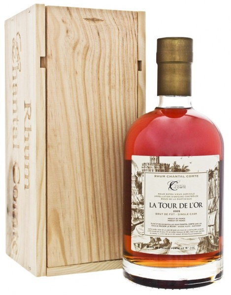 Chantal Comte 2005 La Tour de l Or Brut de Futs Rhum 0,7 Liter 51,5%