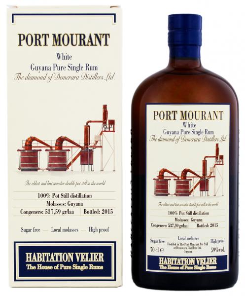 Habitation Velier Port Mourant Guyana White Pur Single Rum 0,7 Liter 59%