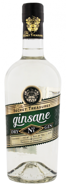 The Secret Treasures Ginsane Dry Gin 0,7 Liter