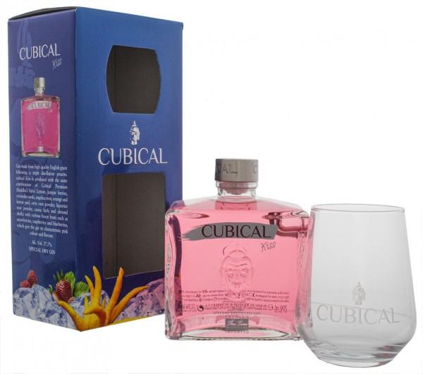 Cubical Premium Special Dry Gin Kiss + Glas 0,7 Liter 37,5% (ehemals Botanic)