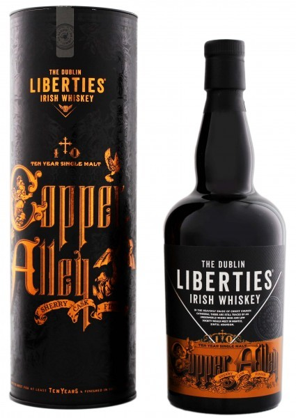 The Dublin Liberties Copper Alley 10YO Single Malt Irish Whiskey 0,7 Liter 46%
