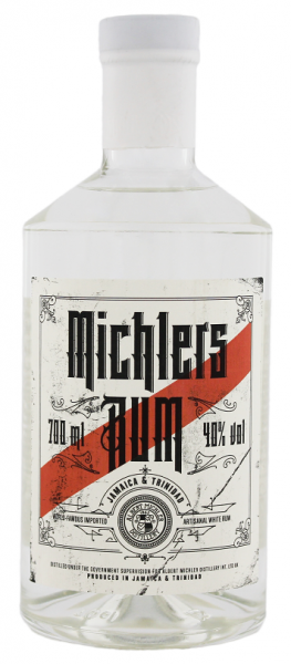 Michler's Jamaica & Trinidad White Rum Artisanal 0,7 Liter 40%
