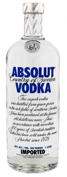 Absolut Vodka Blue 1 Liter