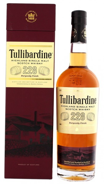 Tullibardine 228 Single Malt Scotch Burgundy Finish Whisky 0,7 Liter 43%