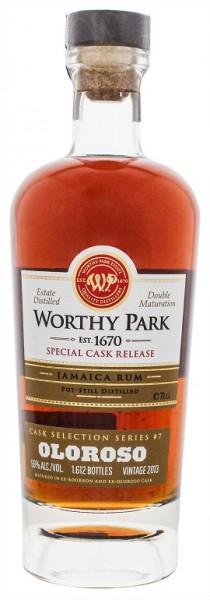 Worthy Park 2013 Special Cask Release Oloroso Jamaica Rum 0,7 Liter 55%