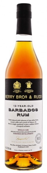 Berry Bros & Rudd 12YO Barbados Four Square Single Cask Rum 0,7 Liter 62,6%