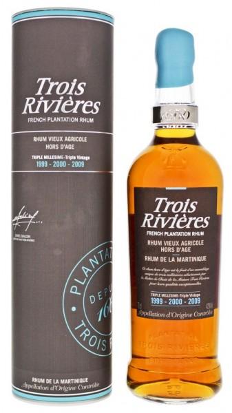 Trois Rivieres 1999-2000-2009 Triple Millesime Agricole Rum 0,7 Liter 42%