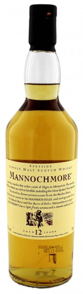 Mannochmore 12YO Single Malt Whisky 0,7 Liter 43%