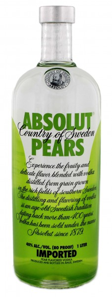 Absolut Vodka Pears Schweden 1,0L