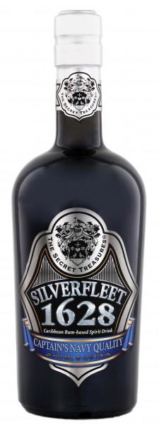 The Secret Treasures Captain's Navy Quality Silverfleet 1628 0,5 Liter 40%