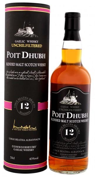 Poit Dhubh 12YO Blended Malt Scotch Whisky 0,7 Liter 43%