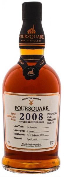 Foursquare 2008 Cask Strength Rum 0,7 Liter 60%