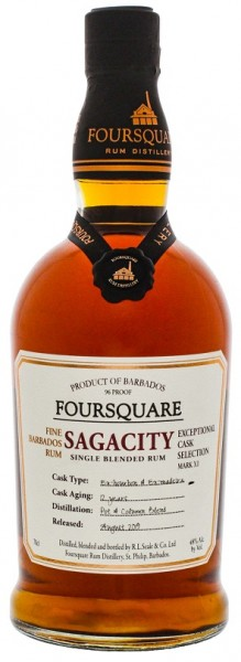 Foursquare Sagacity 12YO Rum 0,7 Liter 48%