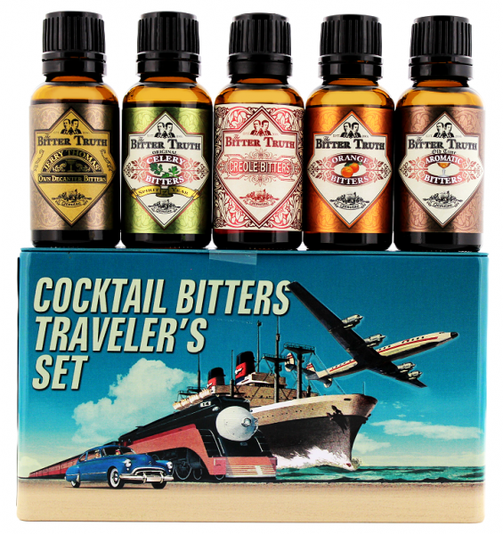 The Bitter Truth Cocktail Bitters Traveler's Set 5x 0,02 Liter