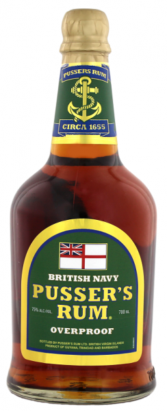 Pusser´s British Navy Green Label Overproof Rum 0,7 Liter 75%