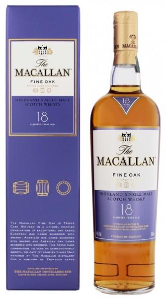 Macallan 18YO Fine Oak Single Malt Whisky 0,7 Liter 43%
