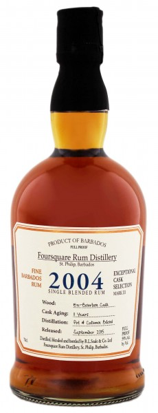 Foursquare Cask Strength 2004 Rum 0,7 Liter 59%