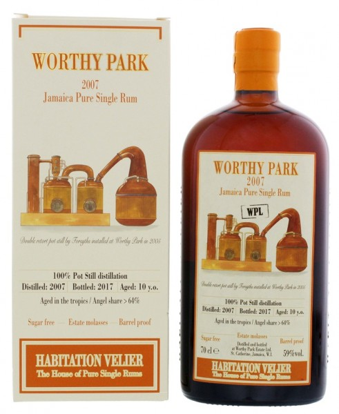 Habitation Velier Worthy Park WPL 2007/2017 Jamaica Pure Single Rum 0,7 Liter 59%