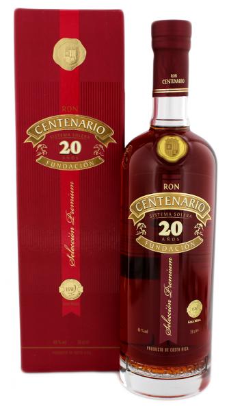 Centenario 20YO Fundacion Rum 0,7 Liter 40%