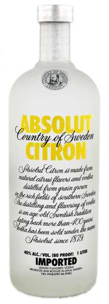 Absolut Vodka Citron 1 Liter 40%