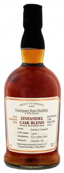 Foursquare Zinfandel 11YO Cask Blend Rum 0,7 Liter 43%