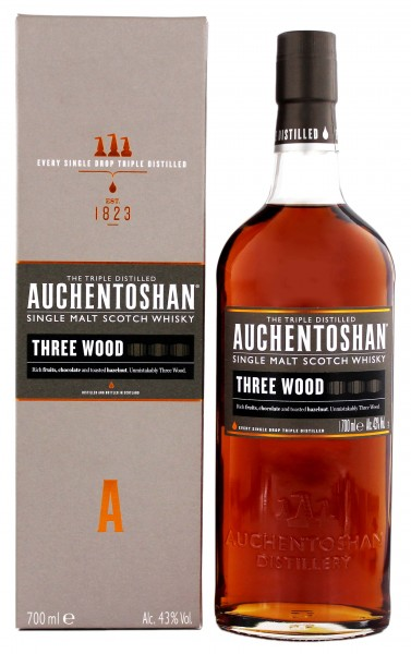 Auchentoshan Three Wood Malt Whisky 0,7 Liter 43%