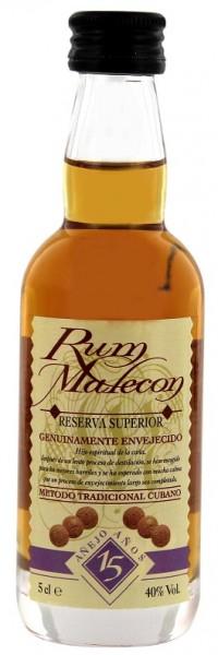 Malecon 15YO Reserva Superior Rum 0,05 Liter 40%