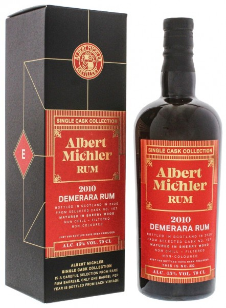 Albert Michler Demerara 2010/2020 Single Cask Collection Rum 0,7 Liter 45%
