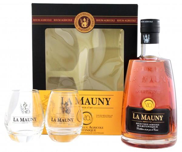 La Mauny Vieux V.O. incl. 2 Gläser 0,7 Liter