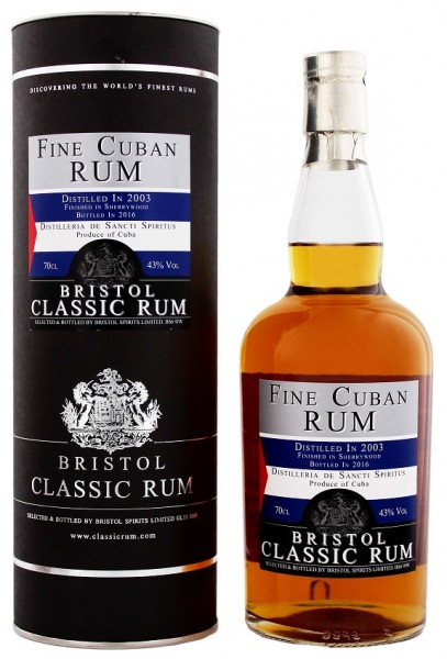 Bristol Cuban Sherry Finish 2003/2016 0,7 Liter 43%