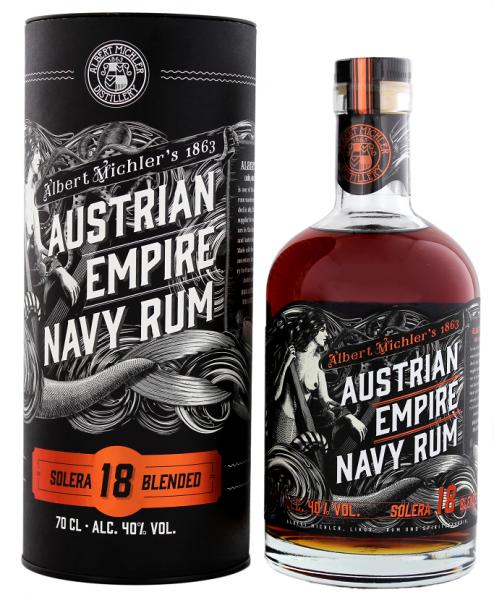 Austrian Empire Navy Solera 18YO Rum 0,7 Liter