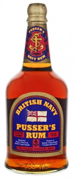 Pusser´s British Navy Overproof Rum 0,7 Liter 75% (altes Etikett)
