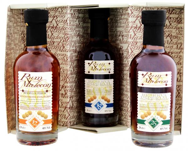 Malecon Rum 3 x 0,2 Liter