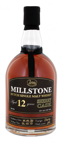Zuidam Millstone 12YO Sherry Cask Single Malt Whisky 0,7 Liter 46%