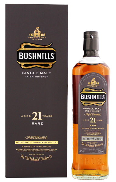 Bushmills 21YO Single Malt Whiskey 0,7 Liter 40%
