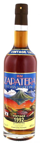 Zapatera 1992 Reserva Especial Vintage Rum 0,7 Liter 40%