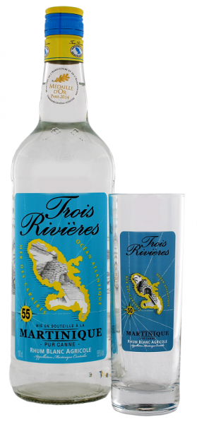 Trois Rivieres Blanc inkl. Glas 1 Liter