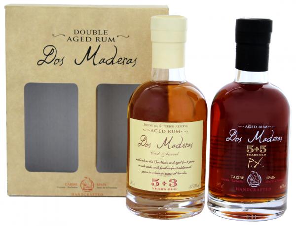 Dos Maderas 5YO+3YO + PX 5YO+5YO Rum Tastingset 0,4 Liter 38,75%