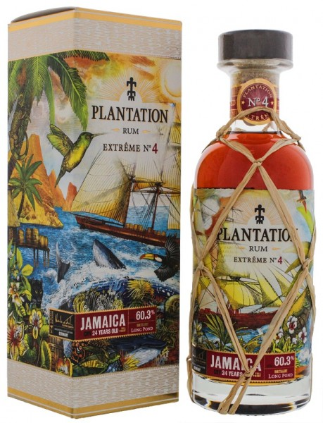 Plantation Extreme No. 4 Long Pond Jamiaca Rum 0,7 Liter 60,3%