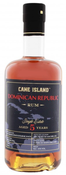 Cane Island Dominican Republic 5YO Single Estate Rum 0,7 Liter 40%